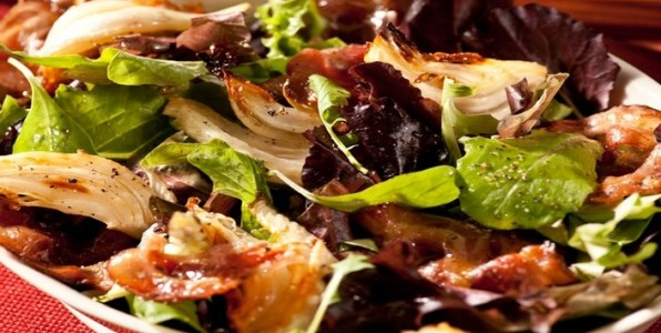 Fennel Salad with Caramelized Pancetta
